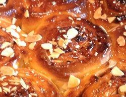 Apricot and Almond Chelsea Buns